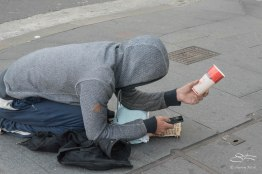 Homeless with Cell Phone