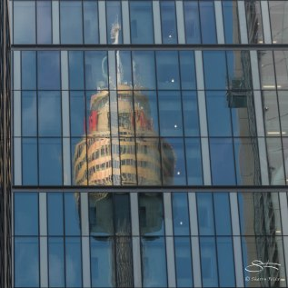 Sydney Tower reflection
