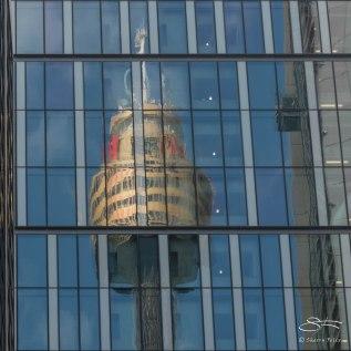Sydney Tower reflection