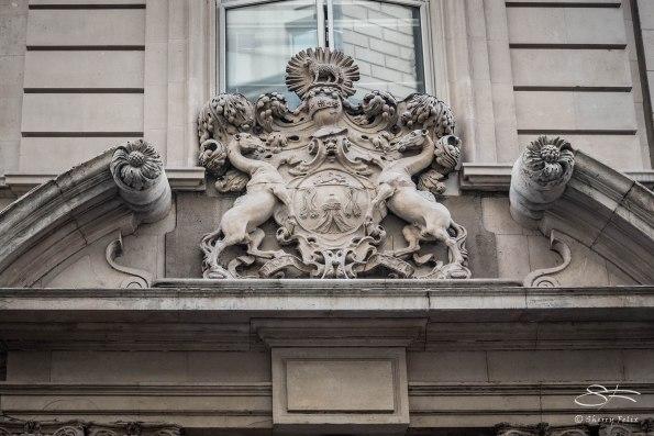 Merchant Taylors shield, Threadneedle Street, London 12/19/2015
