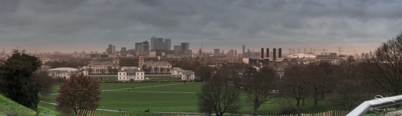 Panorama of Greenwich, London 1/2/2016
