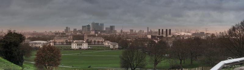 Panorama of Greenwich, London 1/2/2016