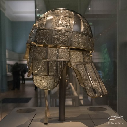 Celtic designs on helmet, British Museum 1/6/2016