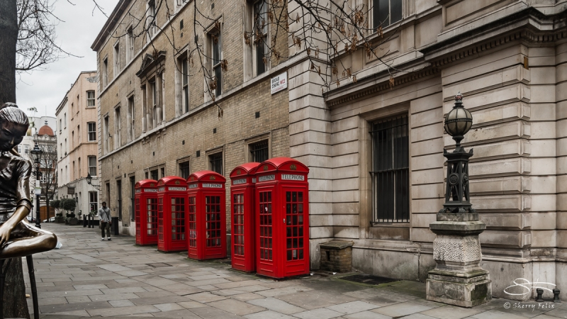Red Phone Booths, Broad Court, London 12/26/2015