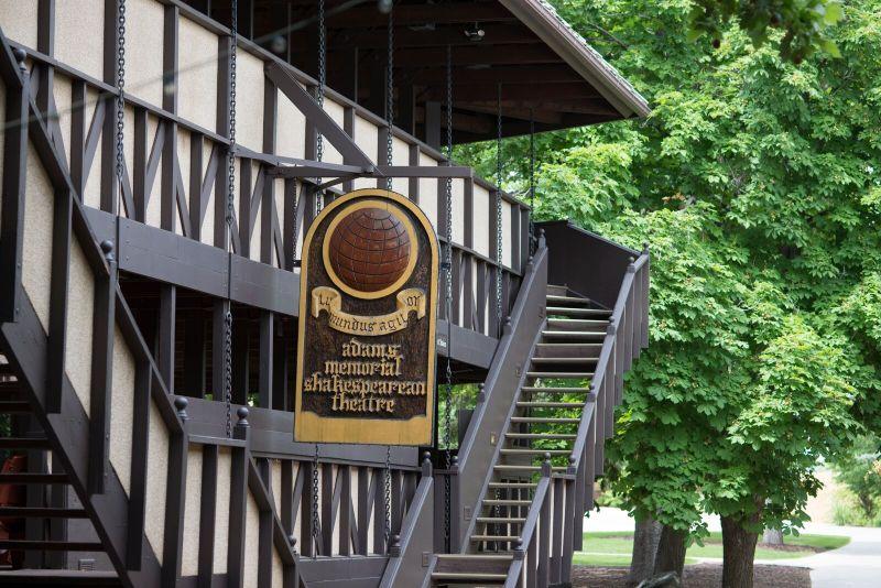 Adams Memorial Shakespearean Theater by Nancy Merill