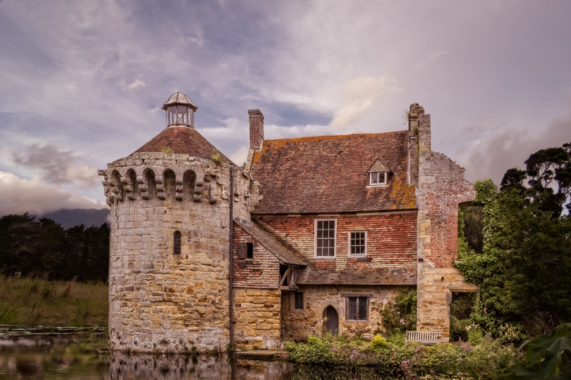 Scotney Castle, Kent by Bren Ryan with Volcan Baru background by Sherry Felix