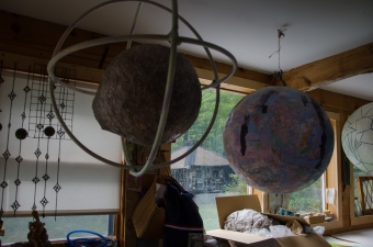 Friend's studio, Solon, Maine 9/5/2014