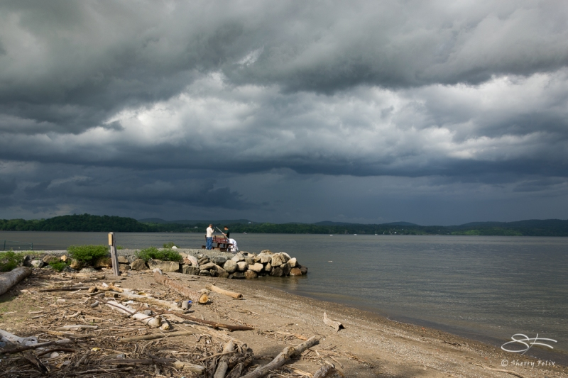 Hudson before Storm, 5/21/2011