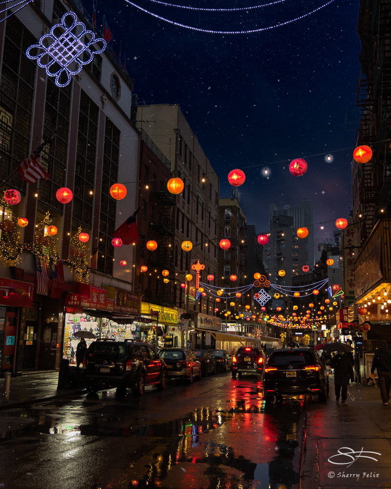 Lanterns in Chinatown, NYC 1/3/2021